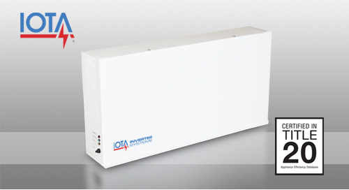 The New IOTA® Inverter Solution for CA Title 20!