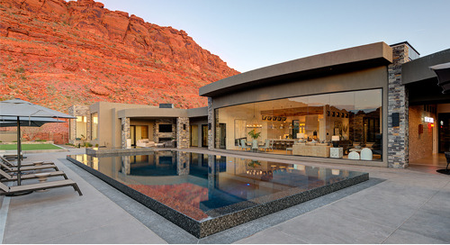 Architectural precision downlighting enables remarkable desert home design to speak for itself