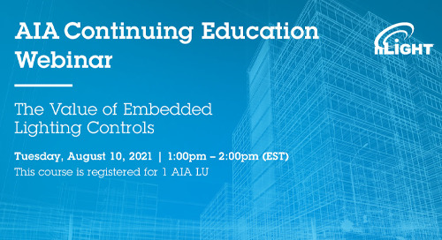 The Value of Embedded Lighting Controls AIA Webinar