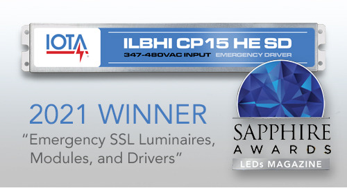 IOTA® ILBHI Emergency Driver Wins 2021 Sapphire Award
