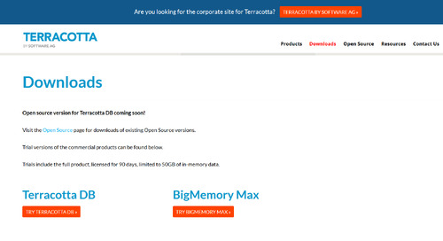 Try Terracotta Web Sessions—Add instant speed to big data web apps