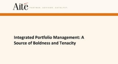Integrated Portfolio Management: A Source of Boldness and Tenacity