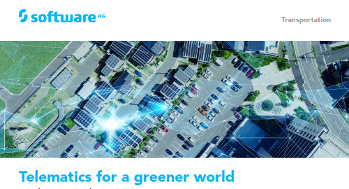 Telematics for a greener world with Cumulocity IoT