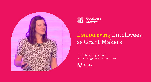 How Adobe Engages Employees to Lead Their Grantmaking Program