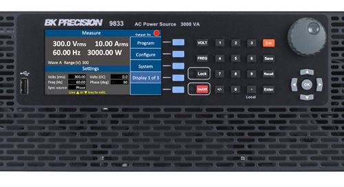 B&K Precision extends programmable AC power sources up to 3000 VA