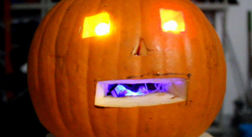 Making a WiFi jack-o'-lantern with the WeMos D1 Mini ESP8266