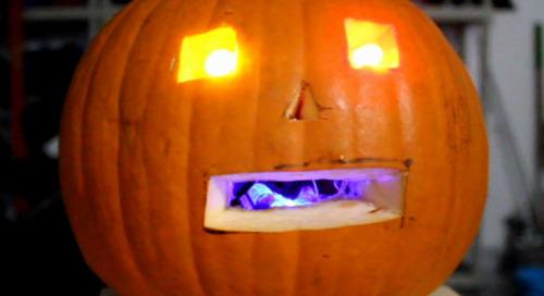 Making a WiFi jack-o'-lantern with the WeMos D1 Mini ESP8266