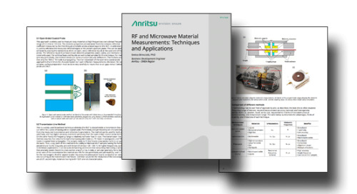 RF and Microwave Material Measurements - Techniques and Applications