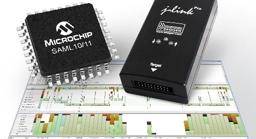 SEGGER complete portfolio to support Microchip SAM L10/11 MCUs