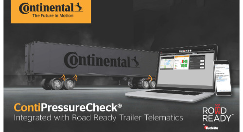 Continental's ContiPressureCheck TPMS Joins Forces with Truck-Lite Co.'s Road Ready Trailer Telematics