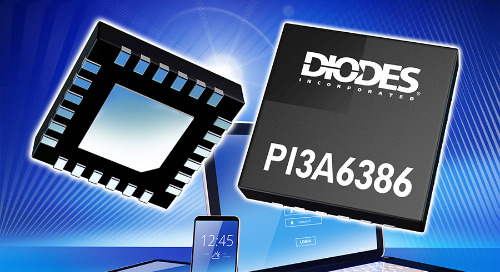 Diodes USB Type-C Port Switch Supports Legacy Analog, Data Signals