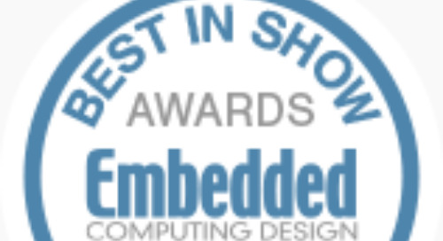 Best-in-Show at Sensors Expo/Embedded Technologies Conference 2019