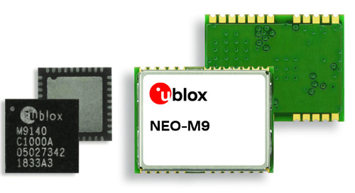 u-blox M9 GNSS Delivers Low-Latency Meter-Level Positioning, Anti-Spoofing Mechanisms