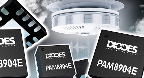 Diode Inc's Enhanced Sounder Driver Serves Smaller Smart Sensors and Wearables