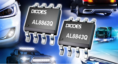 Automotive-Compliant Buck LED Drivers From Diodes Inc Serve Internal and External Vehicle Lamps