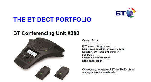 BT X300 Conference Unit [Brochure]