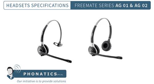 Freemate AG 01 & AG 02 Headsets [Brochure]