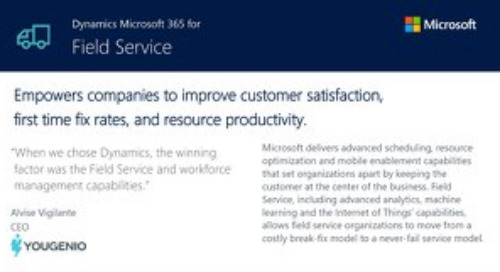 Microsoft Dynamics 365 for Field Service Capabilities Overview