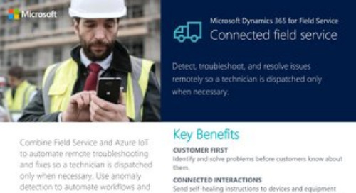 Microsoft Dynamics 365 for Field Service: Connected Field Service Datasheet