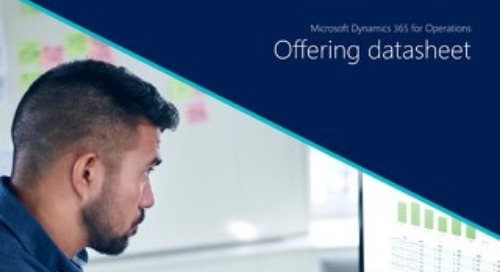 Microsoft Dynamics 365 for Operations Migrate: Offering Datasheet
