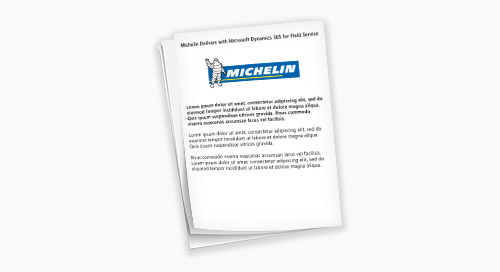 Michelin Delivers with Microsoft Dynamics for 365