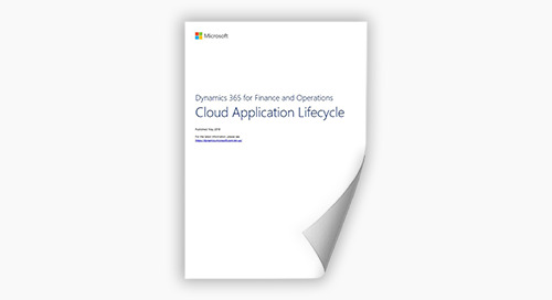 D365 for Finance and Operations - Cloud Application Lifecycle