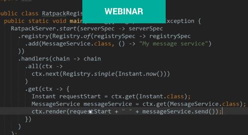Webinar: Spring Boot and Ratpack Web Framework