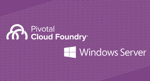 Welcome .NET! Native Windows Server Support in Pivotal Cloud Foundry 1.10 Plus More Azure Goodness