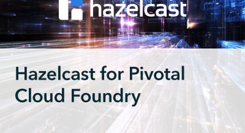 Recorded Webinar Hazelcast for Pivotal Cloud Foundry: Seamless On-demand Deployment & Management