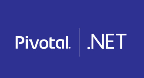 You're Investing In .NET, and so Are We. Pivotal Is Now a Corporate Sponsor of The .NET Foundation.