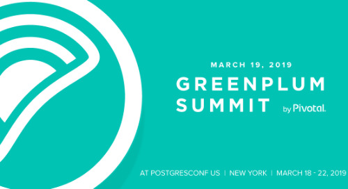 Announcing the Greenplum Summit 2019 Agenda: Scale Matters!