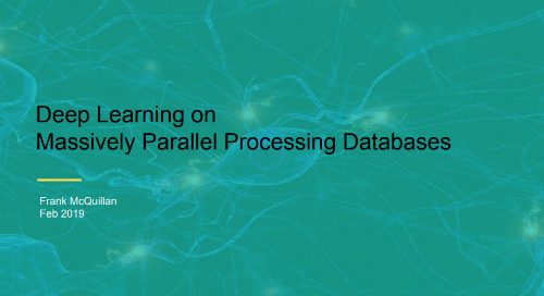 Deep Learning on Massively Parallel Processing Databases
