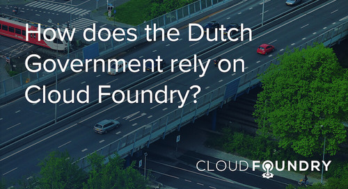 RWS Automates Management of Dutch Physical Infrastructure with Cloud Foundry