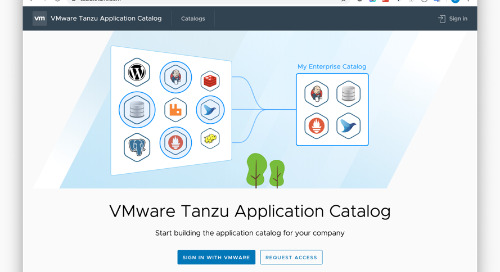VMware Tanzu Application Catalog: Bitnami's Enterprise Debut