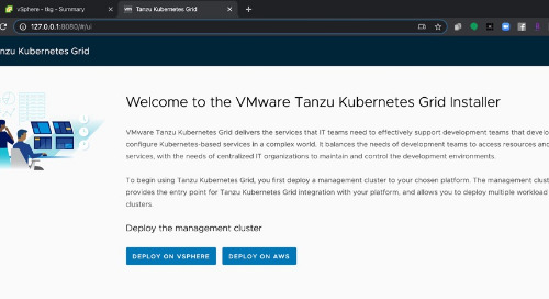 Getting Started with VMware Tanzu Kubernetes Grid CLI