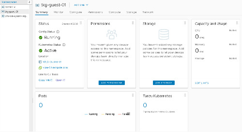 Building a TKG Cluster in vSphere with Kubernetes