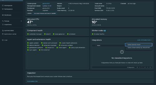 VMware Tanzu Mission Control Now Integrates with VMware Tanzu Service Mesh
