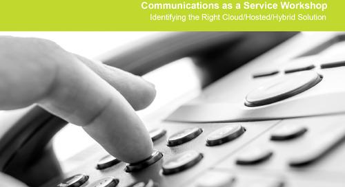 Communications as a Service Workshop