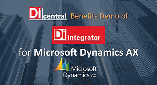 Demo: DiIntegrator for MS Dynamics AX (Benefits)
