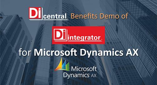 Demo: DiIntegrator for MS Dynamics AX (Benefits)