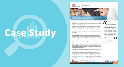 Home Goods Retailer Simplifies Warehouse Processes With DiCentral Web EDI