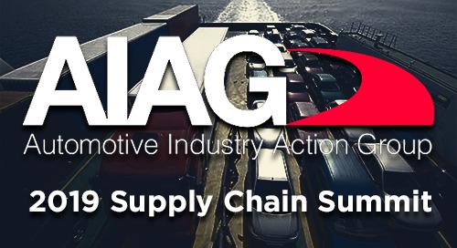 Jun 18, 2019: AIAG Supply Chain Summit @ Livonia, MI