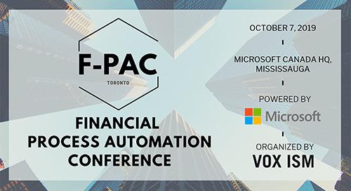 Oct 7, 2019: F-PAC Toronto