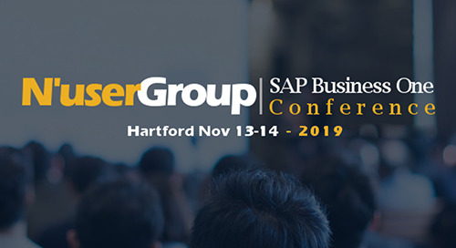 Nov 13-14, 2019: N'User Group SAP Business One Conference @ Hartford, CT