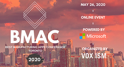 May 26: Best Manufacturing Apps Conference (BMAC) Online