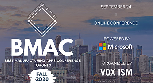 Sep 24: Best Manufacturing Apps Conference (BMAC) Online