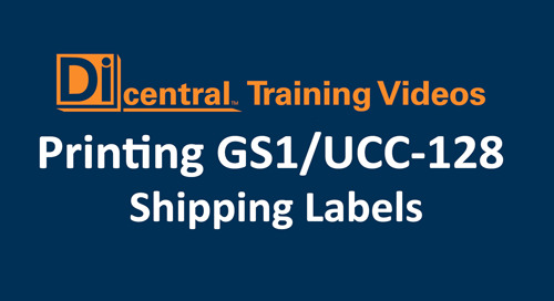 Printing GS1/UCC-128 Shipping Labels