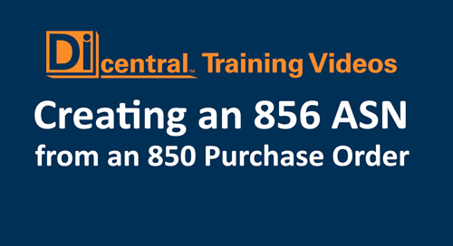 Creating an 856 ASN from an 850 Purchase Order