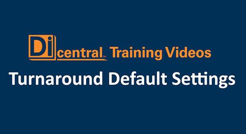 Turnaround Default Settings