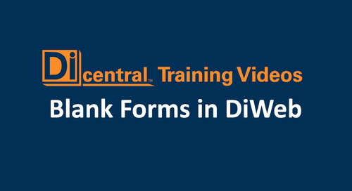 Blank Forms in DiWeb